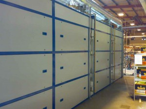 catalytic oven for powder coating-side view