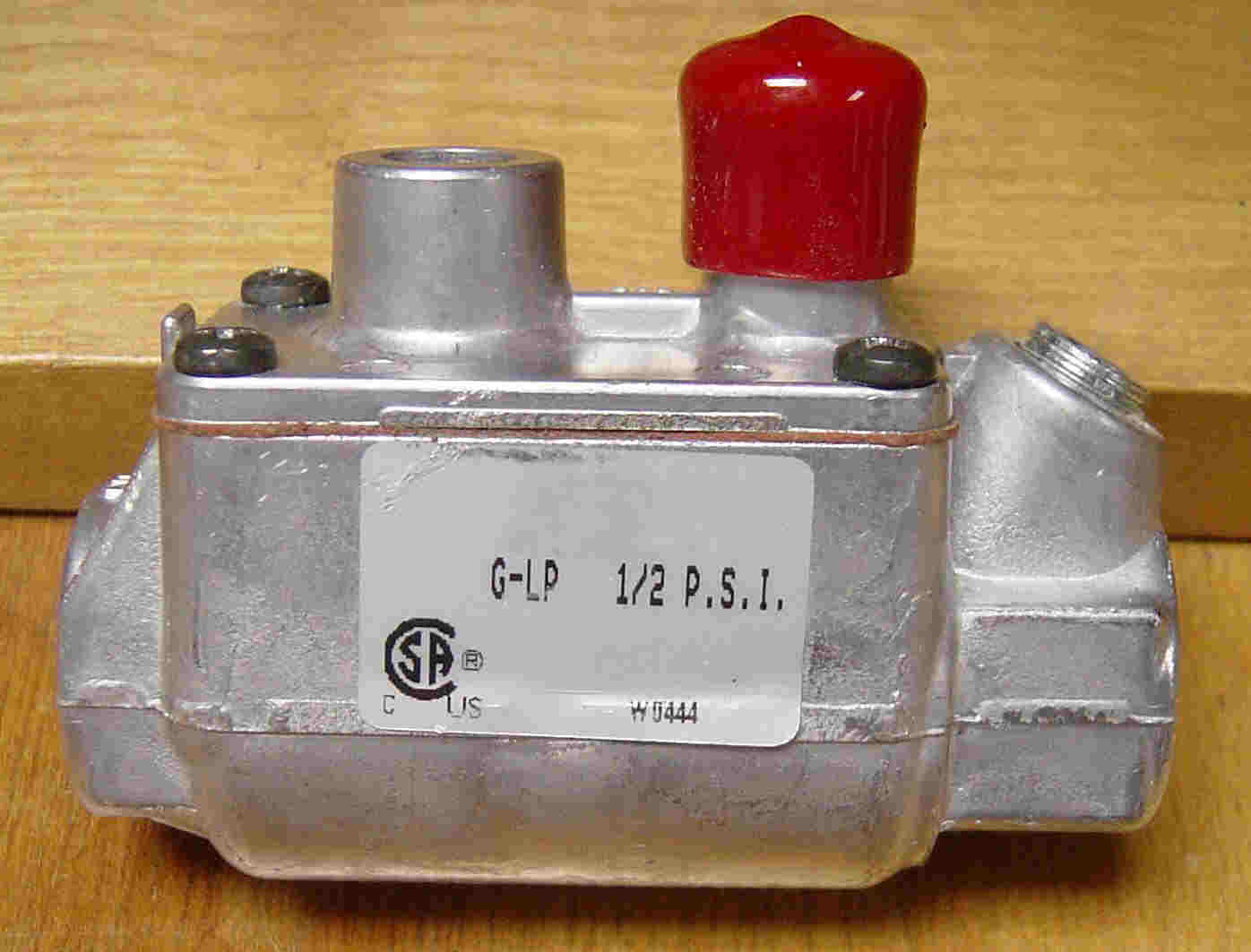 Baso manual safety shut-off valve for use on  manual-start catalytic heaters