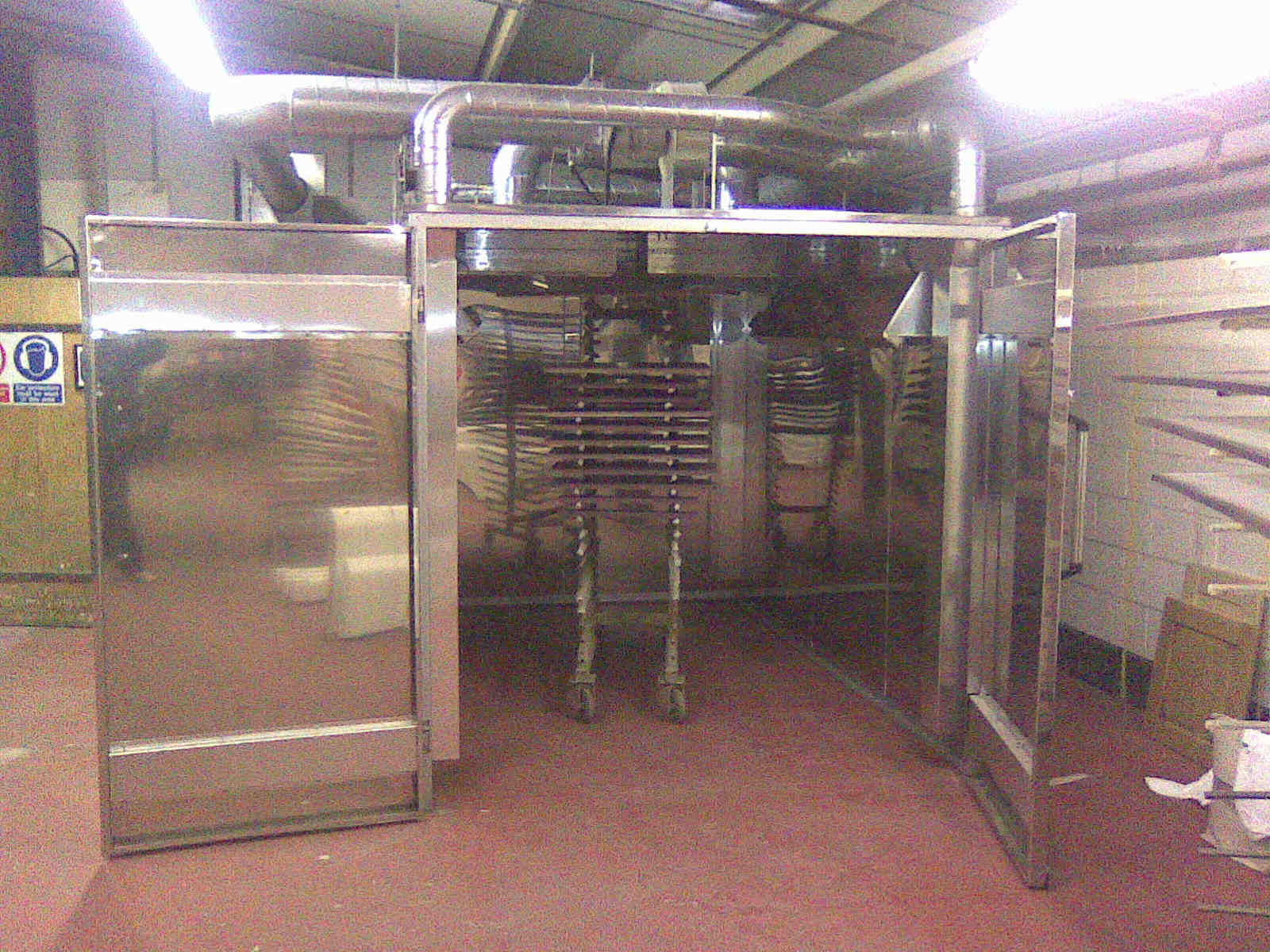 Catbox catalytic box oven loaded with kitchen cabinet doors