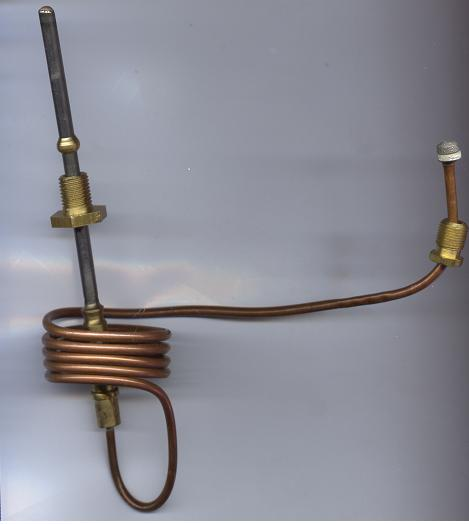 Thermocouple for use with the Baso manual safety shut off valves used on manual-start catalytic heaters